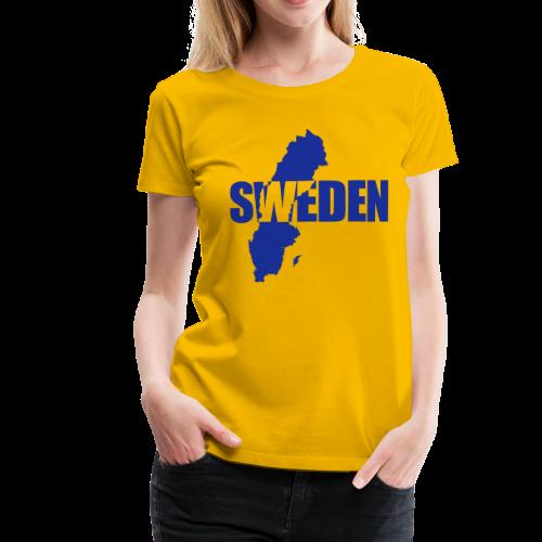 T-shirt dam Premium, SWEDEN map - Premium-T-shirt dam