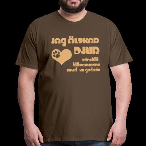 T-shirt Premium, Jag Älskar Djur... - Premium-T-shirt herr