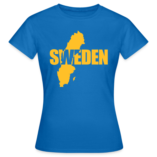 T-shirt dam, SWEDEN map - T-shirt dam