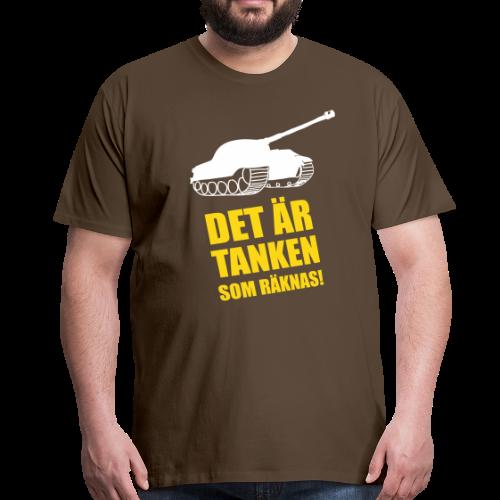 T-shirt Premium, Det är Tanken som räknas - Premium-T-shirt herr