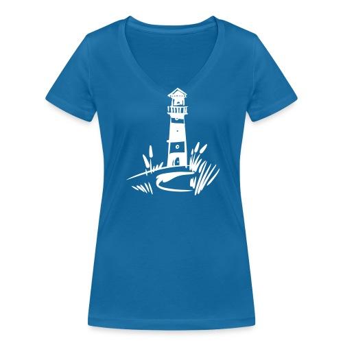 Leuchturm klassisch - Frauen Bio-T-Shirt mit V-Ausschnitt von Stanley & Stella