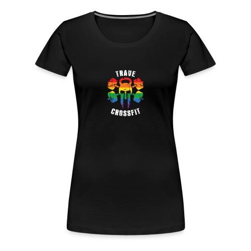Trave CrossFit Regenbogen Shirt - Frauen Premium T-Shirt