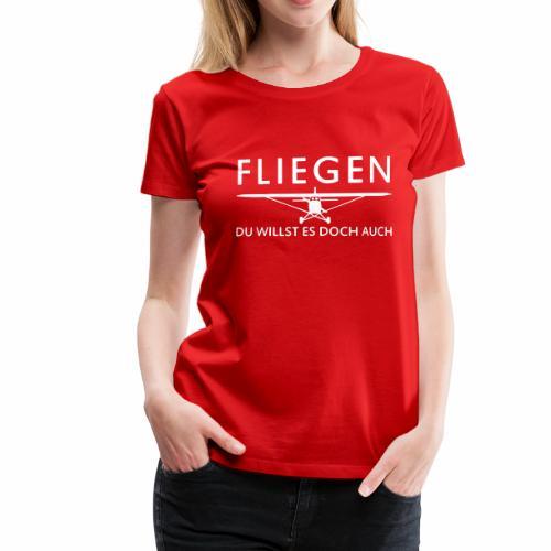 Fliegen - Frauen Premium T-Shirt