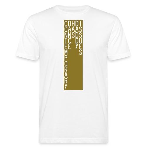 CDHDI VERTICAL MALE BLOCK GOLD - Men's Organic T-Shirt