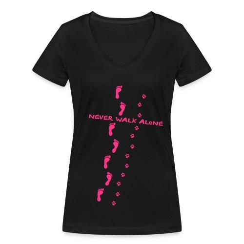 NEVER WALK ALONE - Frauen Bio-T-Shirt mit V-Ausschnitt von Stanley & Stella
