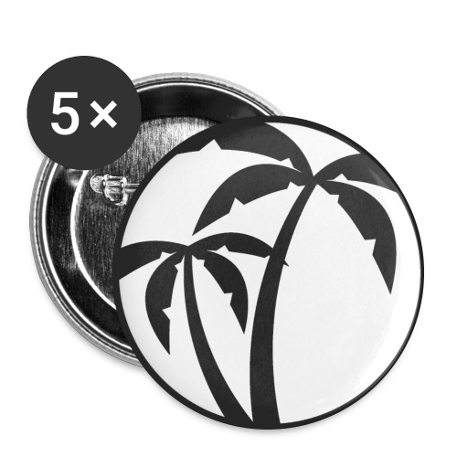 Button KOKOS & ZITRONE (groß) - Buttons groß 56 mm (5er Pack)