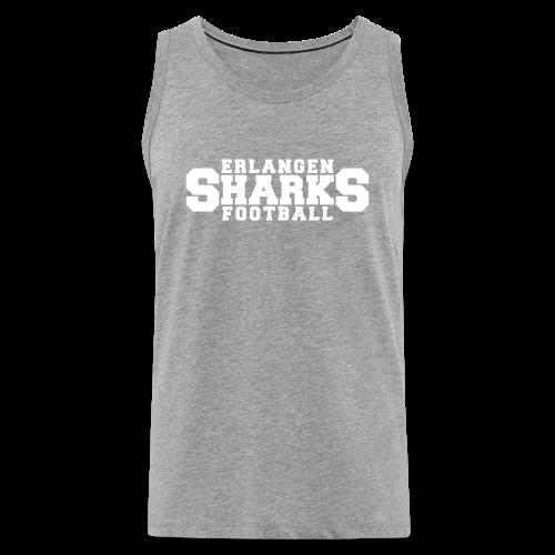 Erlangen Sharks Tank-Top (m, grau/weiß) - Männer Premium Tank Top