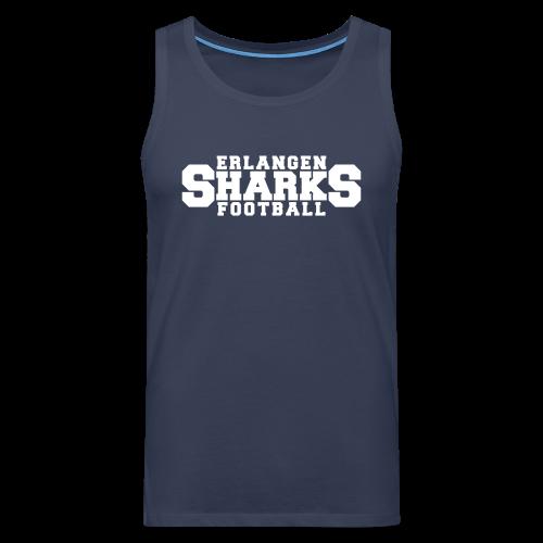 Erlangen Sharks Tank-Top (m, navy/weiß) - Männer Premium Tank Top