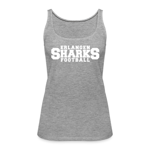 Erlangen Sharks Tank-Top (w, grau/weiß) - Frauen Premium Tank Top