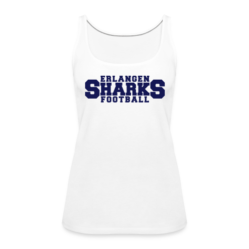 Erlangen Sharks Tank-Top (w, weiß/navy) - Frauen Premium Tank Top