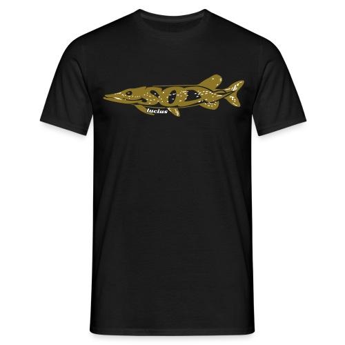 Hechtfänger - Angelshirt für Raubfischfans - Esox Lucius - Männer T-Shirt