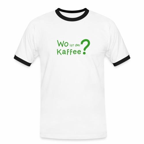 Wo ist der Kaffee?  - Männer Kontrast-T-Shirt