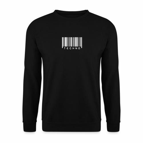 Techno Barcode - Pullover - Männer Pullover
