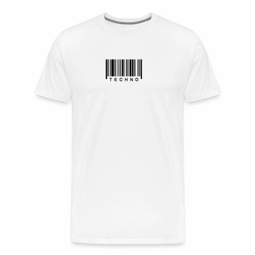 Techno Barcode - T-Shirt - Männer Premium T-Shirt