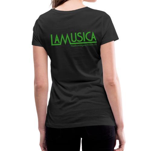 T-Shirt LaMusica Damen - Frauen Bio-T-Shirt mit V-Ausschnitt von Stanley & Stella