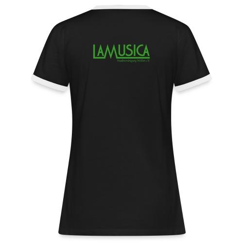 T-Shirt LaMusica mit weiß - Frauen Kontrast-T-Shirt