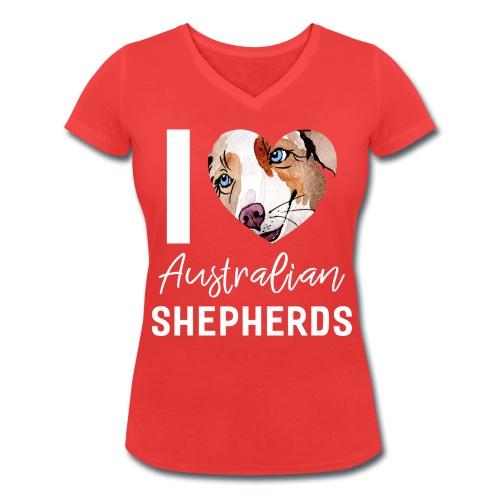 Australian Shepherd T-Shirts, Hoodies & Geschenkideen - Frauen Bio-T-Shirt mit V-Ausschnitt von Stanley & Stella