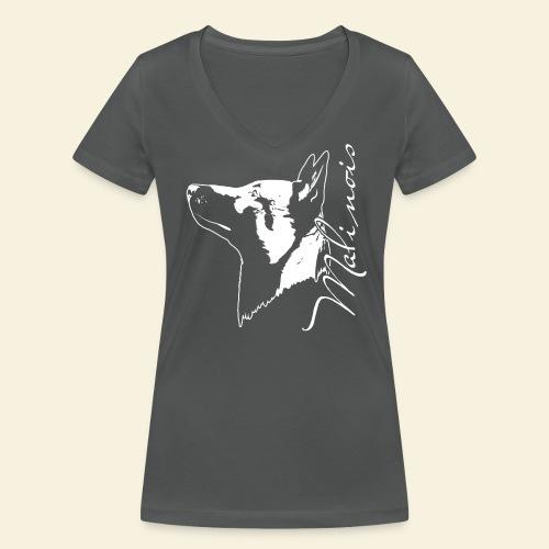Malinois Portrait - Frauen Bio-T-Shirt mit V-Ausschnitt von Stanley & Stella