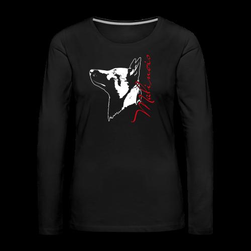 Malinois Portrait - Frauen Premium Langarmshirt