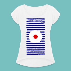 T-shirt à manches retroussées Femme Marinière A - T-shirt à manches retroussées Femme