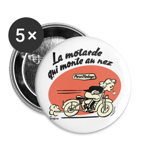Badge grand 56 mm - Designé par Ted Dollar (@teddollar) pour Ted Dollar Clothing Europe #rockabilly #pinup #tattoo #rocknroll #motorcycle #biker #teddollar #gothic #burlesque
