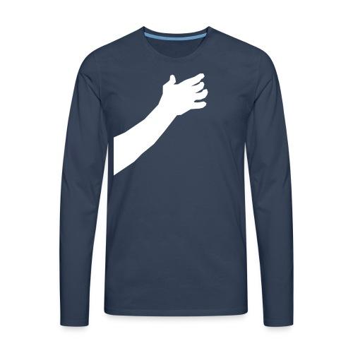 Main autour du cou - T-shirt manches longues Premium Homme