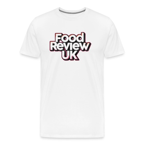 Food Review UK (Orange/Magenta Highlights) - Men's Premium T-Shirt