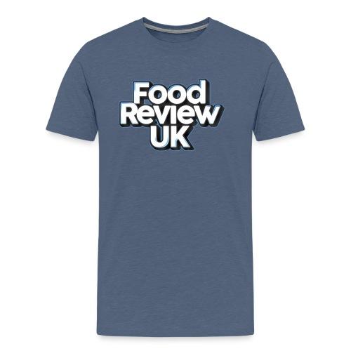 Food Review UK (Blue Highlights) - Men's Premium T-Shirt