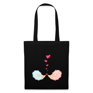 cloth bag hedgehogs in love - Stoffbeutel