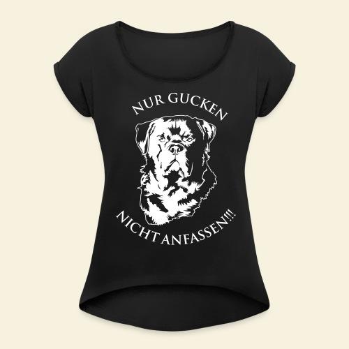 Rottweiler - Frauen T-Shirt mit gerollten Ärmeln