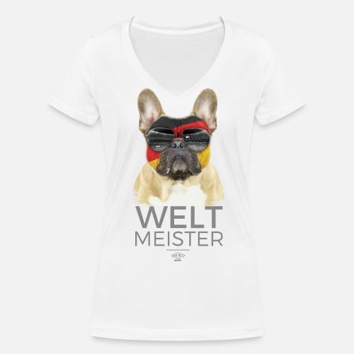 Weltmeister Deutschland - Frauen Bio-T-Shirt mit V-Ausschnitt - Frauen Bio-T-Shirt mit V-Ausschnitt von Stanley & Stella