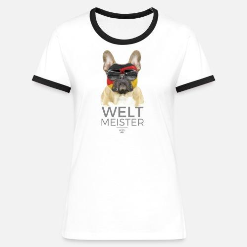 Weltmeister Deutschland - Frauen Kontrast-T-Shirt