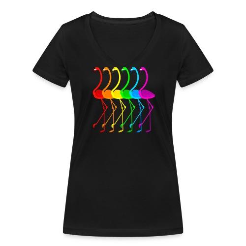 Pride Flamingos - Ekologisk T-shirt med V-ringning dam från Stanley & Stella