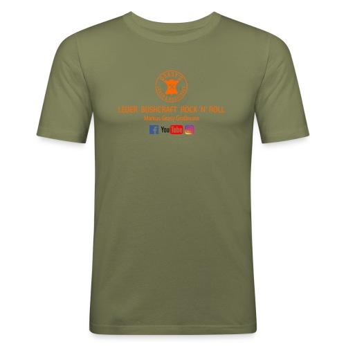 Grasy's Leder & Bushcraft  Rock 'N' Roll - Männer Slim Fit T-Shirt