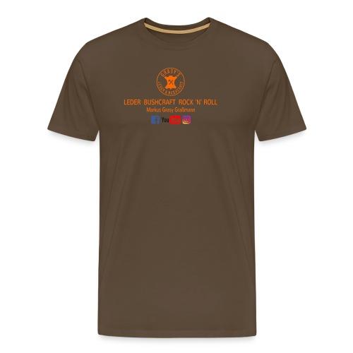 Grasy's Leder & Bushcraft  Rock 'N' Roll - Männer Premium T-Shirt