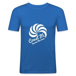 men slim fit top short sleeve-white logo - Men's Slim Fit T-Shirt