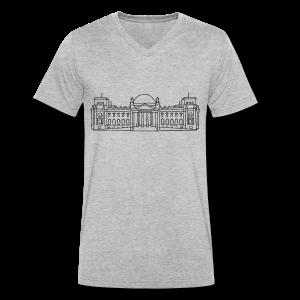Bundestag in Berlin - Männer Bio-T-Shirt mit V-Ausschnitt von Stanley & Stella