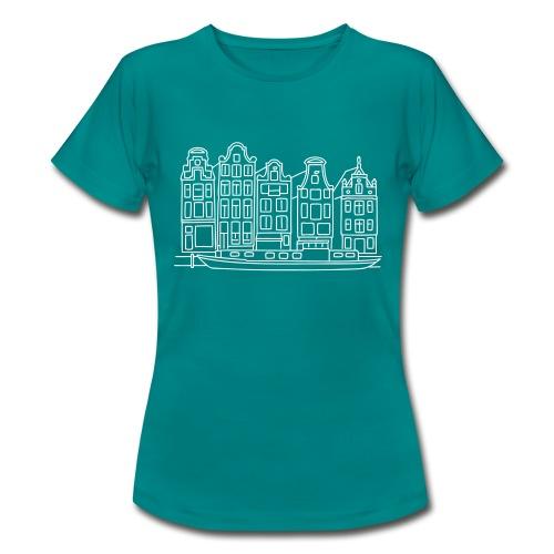 Amsterdam Grachtenhäuser - Frauen T-Shirt