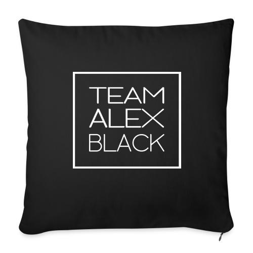 Taie d'oreiller Team Alex Black - Noire - Housse de coussin décorative 44x 44cm
