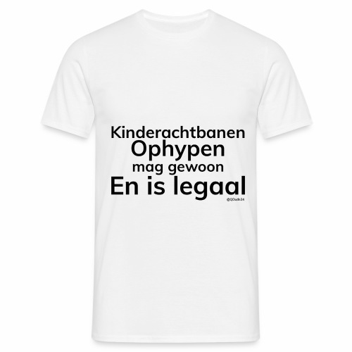Kinderachtbanen Ophypen, Mannen, Wit - Mannen T-shirt