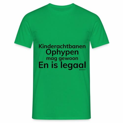 Kinderachtbanen Ophypen, Mannen, Groen - Mannen T-shirt