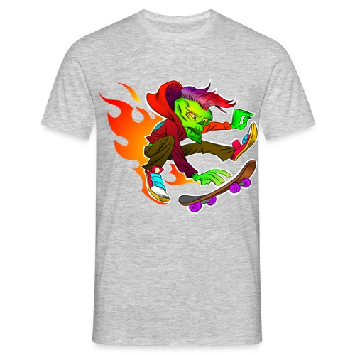 Skateboarding on Fire - Männer T-Shirt