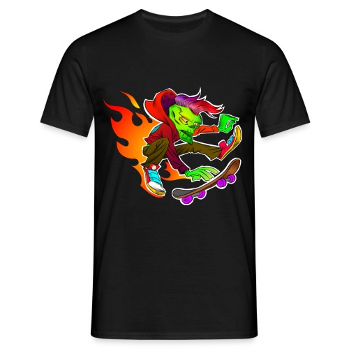 Skater-Punks on Fire - Männer T-Shirt