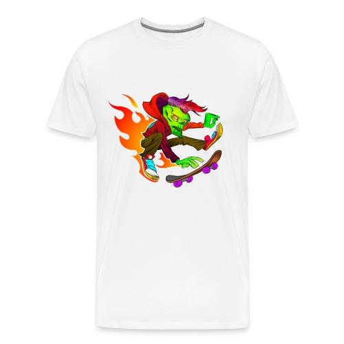 Skate Punk on Fire - Männer Premium T-Shirt