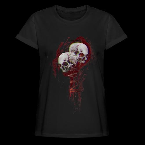 Flame skull - Vrouwen oversize T-shirt