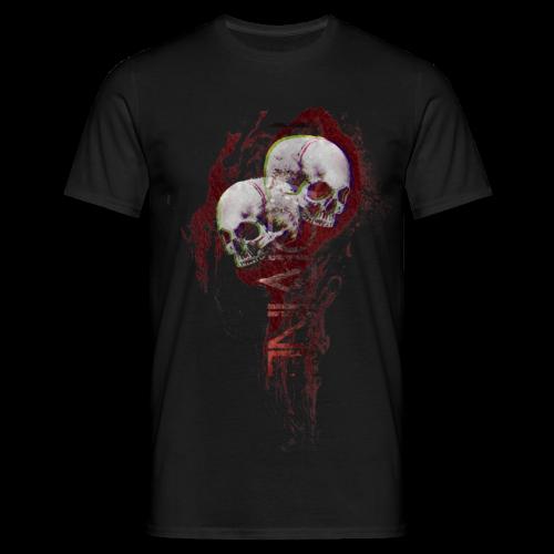 Flame skull - Mannen T-shirt