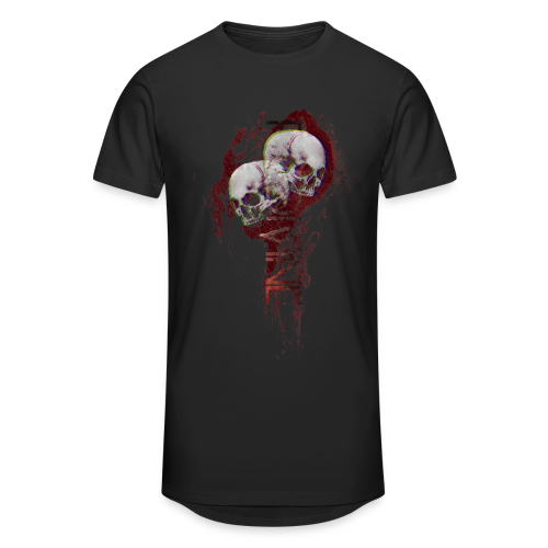 Flame skull - Mannen Urban longshirt