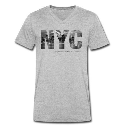 NYC mannen v-hals bio - Mannen bio T-shirt met V-hals van Stanley & Stella