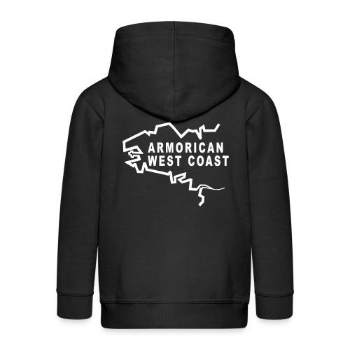 Armorican West Coast 2 motif noir - Veste à capuche Premium Enfant