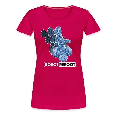 ROBOT REBOOT - Frauen Premium T-Shirt